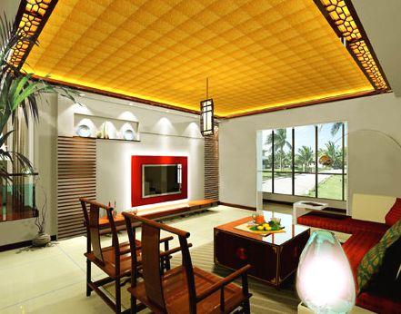 最新中式家居客厅装修效果图片欣赏